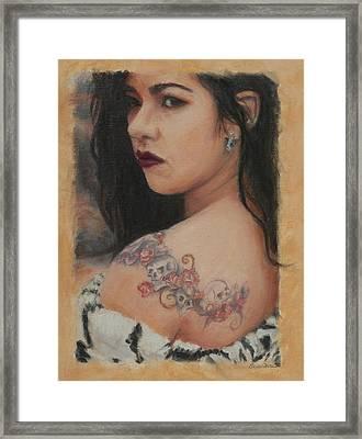 Elegant Ink Framed Print by Sciandra