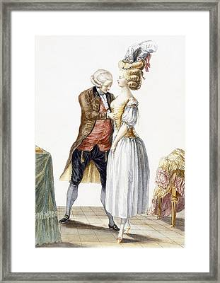 Elegant Lady At A Fitting Framed Print by Pierre Thomas Le Clerc