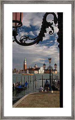 Elegant Lampost Framed Print by Jennifer Wheatley Wolf