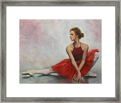 Elegant Lines Framed Print by Anna Rose Bain