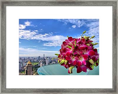 Elegant Orchids Framed Print by Suradej Chuephanich