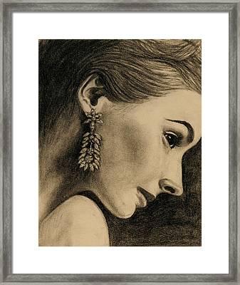 Elegant Profile Framed Print