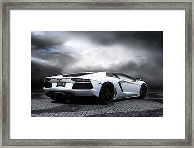 Elegant White Framed Print by Peter Chilelli
