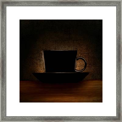 Elegantly Black Framed Print by Lourry Legarde