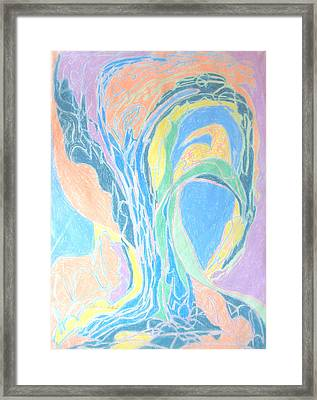 Framed Print featuring the painting Elegy To A Tree by Esther Newman-Cohen