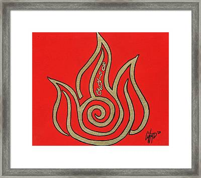 Element Of Fire In Cy Lantyca Framed Print by Cyryn Fyrcyd