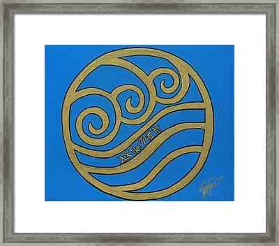 Element Of Water In Cy Lantyca Framed Print