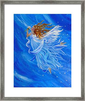 Elemental Earth Angel Of Wind Framed Print by The Art With A Heart By Charlotte Phillips