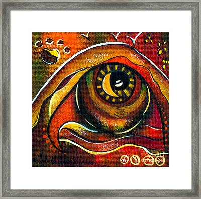 Elementals Spirit Eye Framed Print by Deborha Kerr