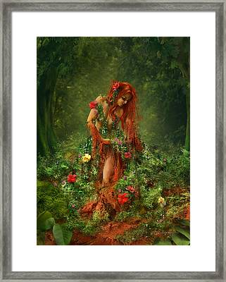 Elements - Earth Framed Print by Cassiopeia Art