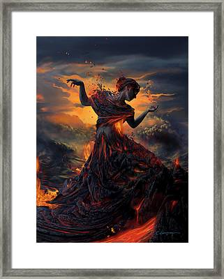 Elements - Fire Framed Print by Cassiopeia Art