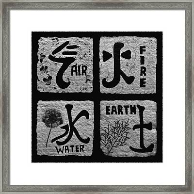 Elements Bw Framed Print by Barbara St Jean