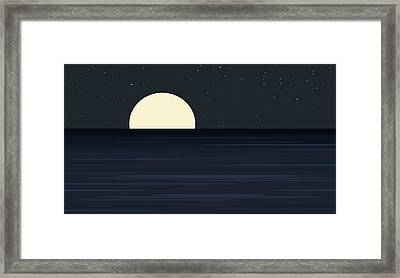 Elements -  Indigo Ocean Framed Print by Val Arie