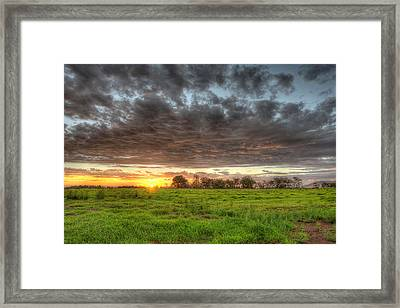 Elements Of A Waimea Sunset Framed Print