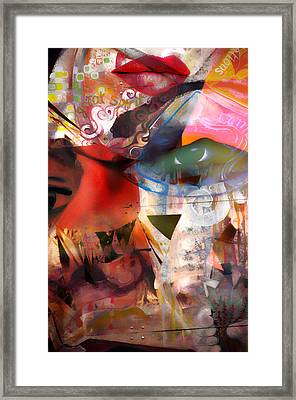 Elements Of Estrogen  Framed Print by Jerry Cordeiro