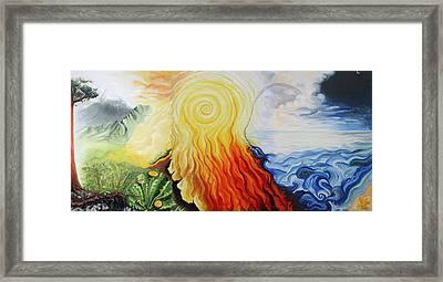 Elements Framed Print by Sandra Yegiazaryan