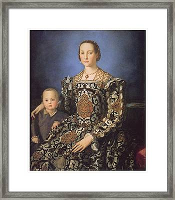 Eleonora Ad Toledo Grand Duchess Of Tuscany Framed Print by Agnolo Bronzino