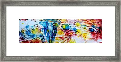 Elepant Abstract Framed Print by Anastasis  Anastasi