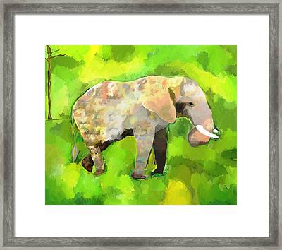 Framed Print featuring the painting Elephant 4 by Jeanne Fischer