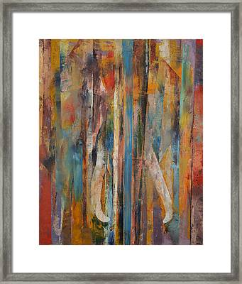 Elephant Framed Print by Michael Creese