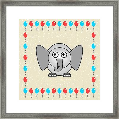 Elephant - Animals - Art For Kids Framed Print