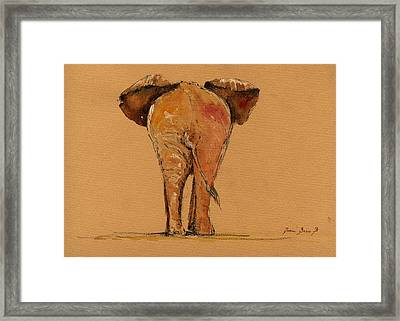 Elephant Back Framed Print by Juan  Bosco