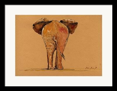 Elephant Wall Art Framed Prints