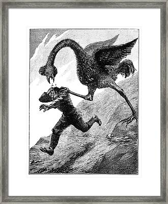 Elephant Bird Attack Framed Print by Science Photo Library