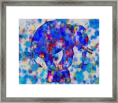 Elephant Blues Framed Print