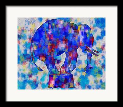 Figure Based Digital Art Framed Prints