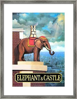 Elephant Castle Framed Print by Peter Green