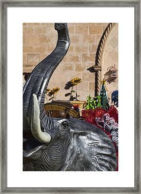Elephant Celebration Framed Print by Kathy Clark