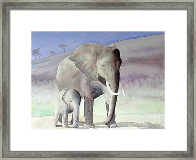 Elephant Family Framed Print