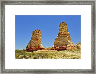 Elephant Feet Rocks Arizona Framed Print by Christine Till