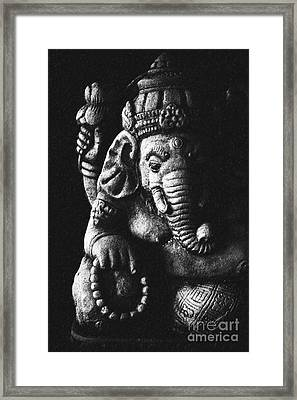 Elephant God Framed Print by Tim Gainey