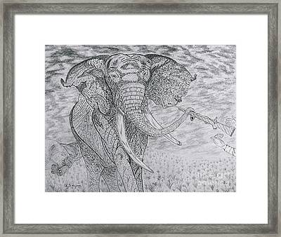 Elephant Gun Framed Print by Gerald Strine