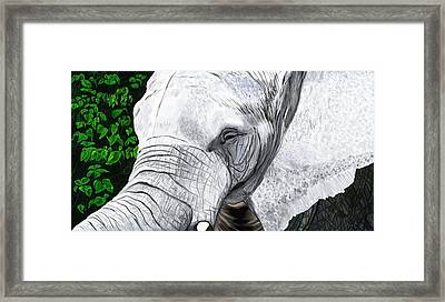 Framed Print featuring the painting Elephant II by Jeanne Fischer