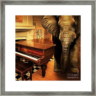 Elephant In The Room 20141225 Square Framed Print