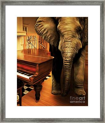Elephant In The Room 20141225 Vertical Framed Print