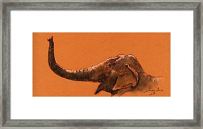 Elephant Indian Framed Print