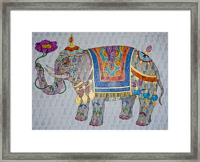 Elephant Framed Print by Jennifer Mazzucco