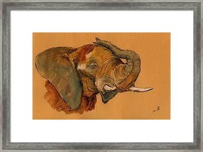 Elephant Framed Print by Juan  Bosco
