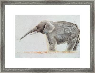 Elephant  Framed Print by Jung Sook Nam