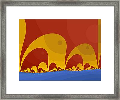 Framed Print featuring the digital art Elephant Lake by Mark Greenberg