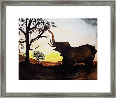 Elephant Framed Print by Laneea Tolley