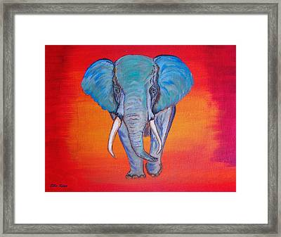 Framed Print featuring the painting Elephant Matriarch by Ella Kaye Dickey