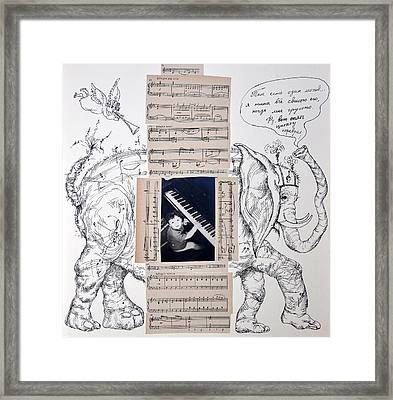 Elephant Music Framed Print