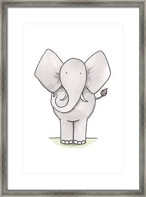 Elephant Nursery Art Framed Print
