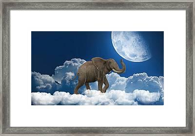 Elephant On Cloud 9 Framed Print by Marvin Blaine