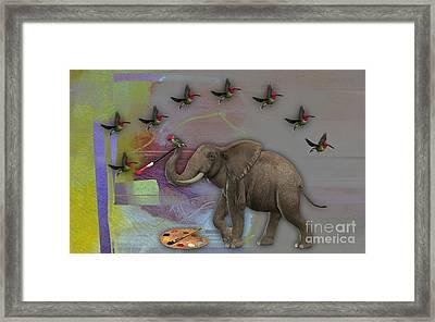 Elephant Painting Framed Print by Marvin Blaine